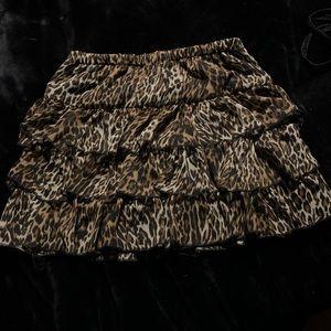 UK2L Leopard Mini Skirt